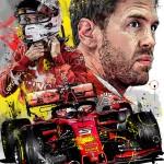 Sebastian Vettel - Sketches - Sebastian Vettel 2019