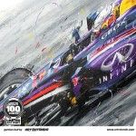 Sebastian Vettel - Lithographs - German Bull