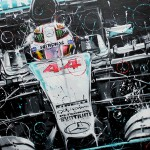 Lewis Hamilton - Lithographs - Light It Up