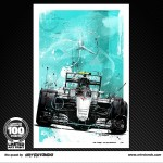 Michael Schumacher - Lithographs - The Silver Legends set