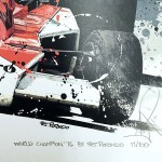 James Hunt - Lithographs - World Champions Collection '76