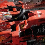 Sebastian Vettel - Lithographs - Charge