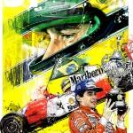 Ayrton Senna - Lithographs - Sempre Campeao Set